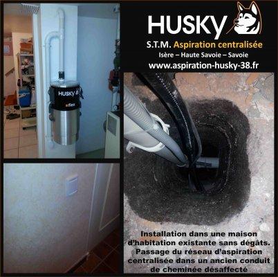 Stm Husky Isère 38 Aspiration Centralisée Husky Existant
